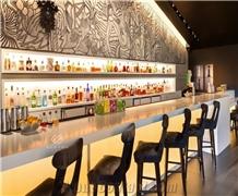Illuminated Wine Bar Marble Design Nightclub Bar Counter