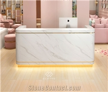 Top Quality Solid Surface Round Reception Counter