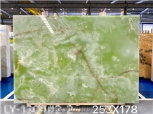 Green Onyx Slab Stone for Wall Feature