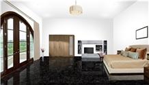 Jet Black Granite Flooring Tiles