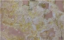 Pink Onyx Slab Stone, Afghan Pink Onyx Slabs & Tiles