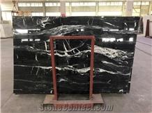 Black Fade Marble, Crocodile Black Marble Slabs