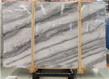 Chinese Ocean White Marble Slabs