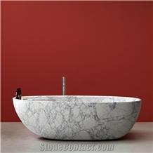 Good Price Wholesale Freestanding White Marble Bathtub
