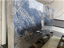 Azul Bahia Artificial Granite Sintered Slab Wall Matched