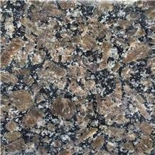 China Royal Pearl Brown Granite Tile Polished Exterior Wall Panel