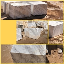 Bookmatch Volakas Marble Blocks with Large Veins