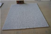 Bianco Carrara White Fan Shape Cube Mosaic