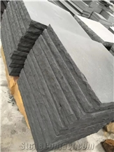 Chinese Black Sandstone Flamed,Steps&Treads
