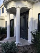 Blanco Pirg Marble Columns