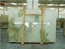 Green-White Onyx Slabs