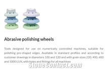 Abrasive Polishing Wheels, Edge Polishing Wheels-Processing with Cnc and Automatic Machines