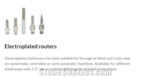 Cnc Machines Electroplated Routers