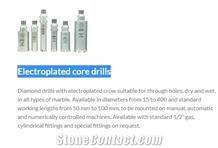 Electroplated Core Drills, Diamond Core Drill Bits