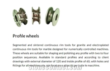 Profile Wheels Segmented and Sintered Continuous Rim Tools