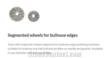 Segmented Wheels for Bullnose Edge Polisher