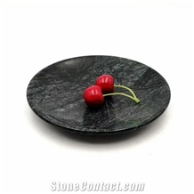 Black Marble Kitchen Accessories Stone Plates
