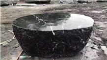 China Black Rock Granite Split Waterjet Landscaping Stone