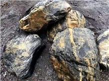 China Diamond Granite Split Waterjet Landscaping Stone