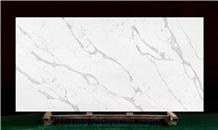 New Design Calacatta White Quartz Stone Slab for Countertop