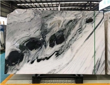 Polished Panda White Marble Wall&Floor Slab Tiles
