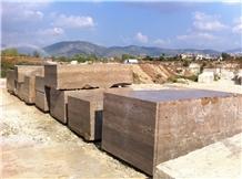 Roman Travertine Noce Blocks, Travertino Romano Noce Blocks