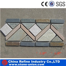 Chinese Slate Boarder Line Paving Stone Tiles,Wall Cladding