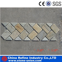 Mosaic Border on Net Flooring Tiles,Marble Walling Cladding