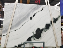 China Panda White Marble Slabs, Interior Walll Floor Tile