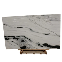 China Polished Panda White Marble 2cm Big Slab