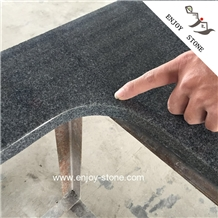 G654 Granite Sesame Black Polished Countertop