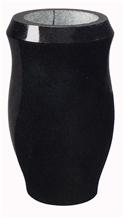 Black Granite Stone Urn, Vases