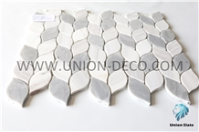 Leaves Shape Marble Mosaic Interior Decoration