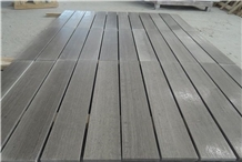 Polished Grey Wooden Grain Marble Flooring Tiles