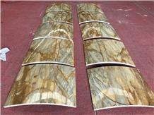 Giallo Siena Marble Columns