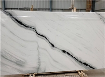 Panda White Marble Exotic Chinese Black Tile Slab
