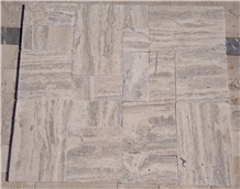 Romano Silver Travertine Pattern Vein Cut