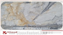 Invisible Grey Golden Marble Slabs