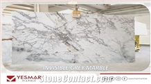 Invisible Grey Marble Slabs