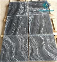Best Sale Luxury Sandblasted Black Tiger Veins Marble Tles