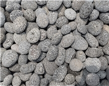 Black Lava Pebble Stone