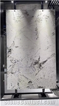Polished White Quartzite Slabs with Veins