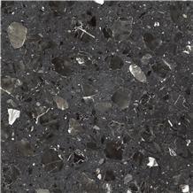 Terrazzo Colorful Artificial Vanta Black Marble Surface