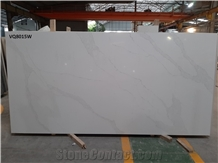 Vq8015w Calacatta Collections Vietnam Quartz Stone
