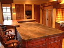 Leather Finished Quartzite Kitchen Countertops