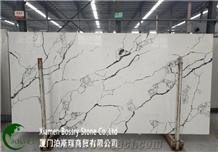 China Quartz Calacatta White Quartz Slab