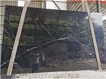Chinese Nero Marquina Black Marble Slabs & Tiles