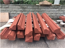 China Red Sandstone Moulding Exterior Wall Cladding
