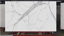 Calacatta White Nano Stone Crystallized Glass Stones Slabs