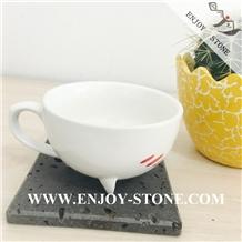 Honed Lavastone Macro Holes Basalt Glass/Mug Kitchen Coaster